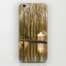 Little Lake House in the Forest iPhone Skin
