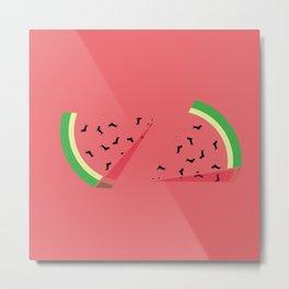 Watermelon Ween Metal Print