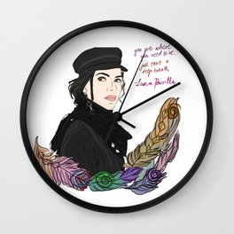 Lana Parrilla Feathers of Hope Wall Clock