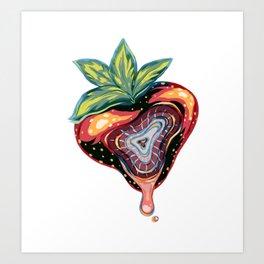 Strawberry Bashful Art Print