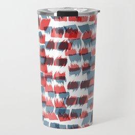 Red and Blue short brushstrokes - Sarah Bagshaw Travel Mug
