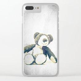 sitting teddy bear... Clear iPhone Case