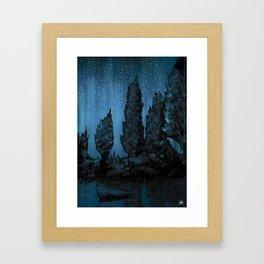 Forest Lake Framed Art Print