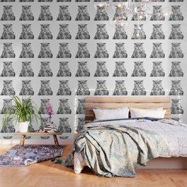 Black and white owl animal portrait Wallpaper