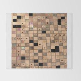 CROSSWORD LOVE Throw Blanket