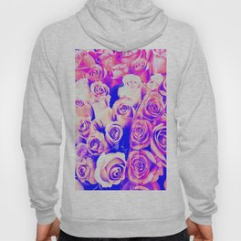 bouquet of roses texture pattern abstract in pink and purple Hoody