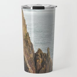 Lower Neahkahnie Mountain Ocean Spires, Oregon Coast Landscape Travel Mug