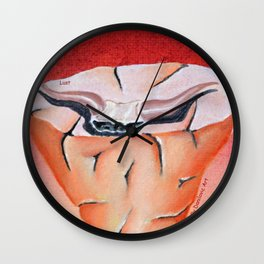 lust (seven deadly sins) Wall Clock
