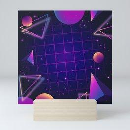 Universe Future Synthwave Aesthetic Mini Art Print