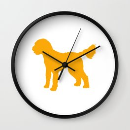 Goldendoodle Doodle Wall Clock