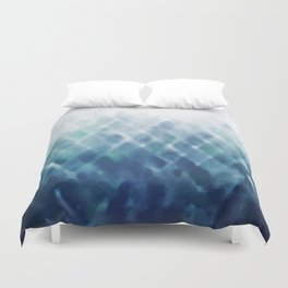 Diamond Fade in Blue Duvet Cover