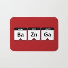 Bazinga Periodic Table Funny Quote Bath Mat