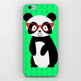 shocked panda iPhone Skin