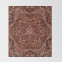 Hardwood Hill Brown Kaleidoscope Throw Blanket