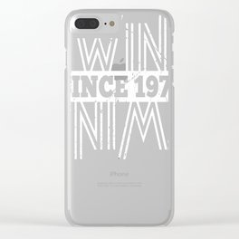 Twins-Since-1972---45th-Birthday-Gifts Clear iPhone Case