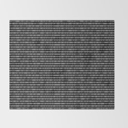 Binary Code in DOS Throw Blanket