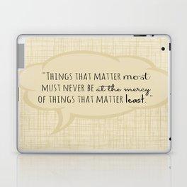 Johann Wolfgang von Goethe Quote Laptop & iPad Skin