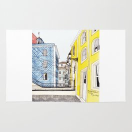 Beautiful Lisbon by Charlotte Vallance Rug