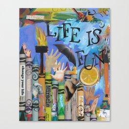 Fun by Seattle Artist Mary Klump Canvas Print