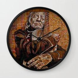 Willie's Guitar Wall Clock