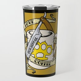 Old School Coffee and Razor Travel Mug