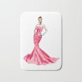 Sabrina / Hepburn Fuschia Pink Red | Fashion Gown Dress Bath Mat