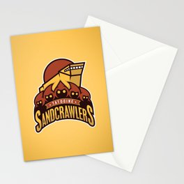 Tatooine SandCrawlers - Gold Stationery Cards