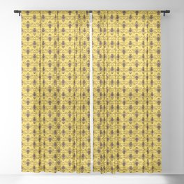 Be safe - save bees Sheer Curtain