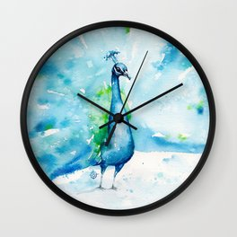 Peacocking Around Wall Clock