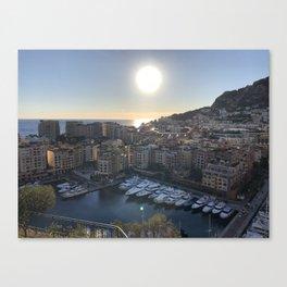 Monaco Sunset Canvas Print