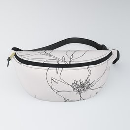 Tropical flower illustration - Betty Fanny Pack