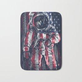 Astronaut Flag Bath Mat