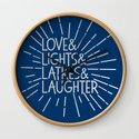 LOVE & LIGHTS & LATKES & LAUGHTER Hanukkah ampersand design blue silver by starkle