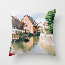 La Petite Venise Colmar Throw Pillow