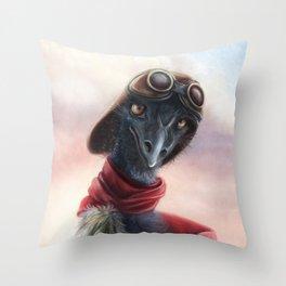 Queen Bess Emu Throw Pillow