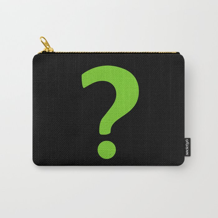 Enigma - green question mark Carry-All Pouch