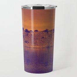Lake Superior Rock Island Red Purple [Jordan E. Eismont] Travel Mug