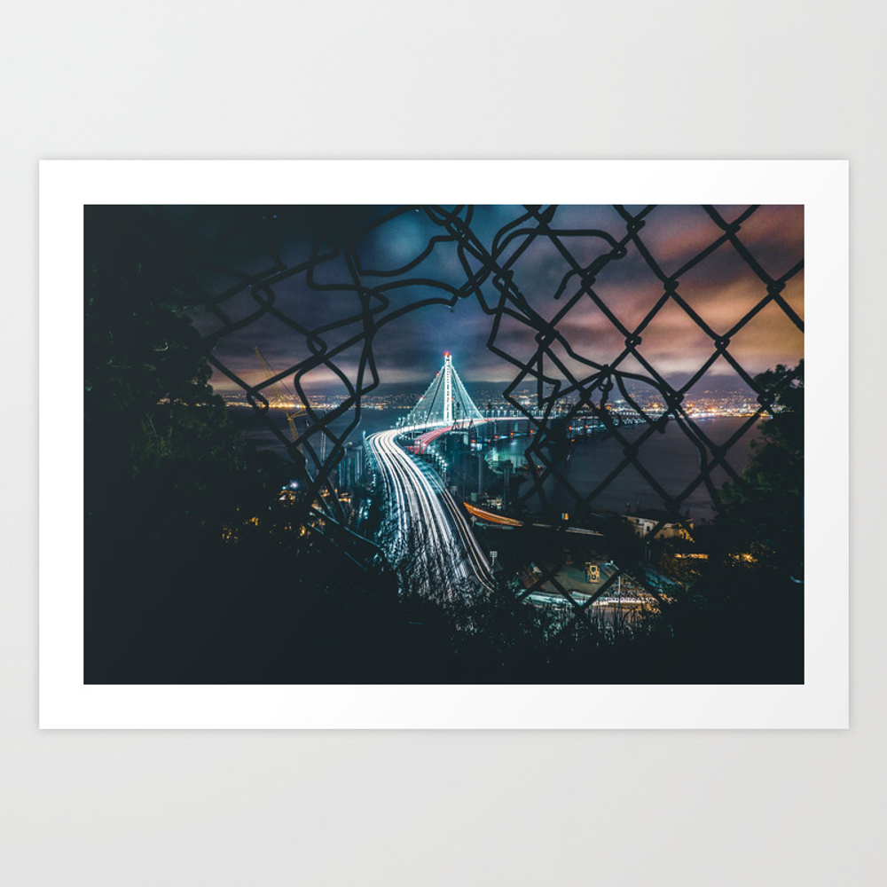 City Glow Art Print by Glowing PRN8024181