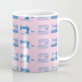 Vintage Sewing Thread Machine Needle Pattern Coffee Mug