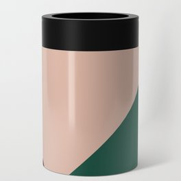 Burgundy and Green Geometric Can Cooler