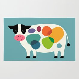 Awesome Cow Rug