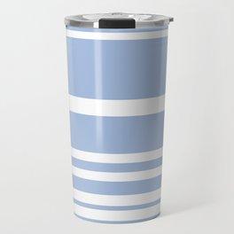 Scandi Pastel Cornflower Stripes Travel Mug