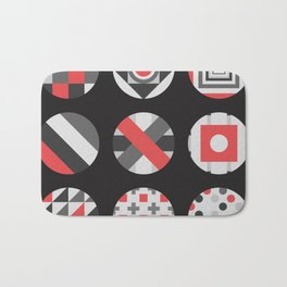 Geometric Circle Pattern Bath Mat