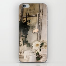 Shabby Charme Stillife with candle iPhone Skin