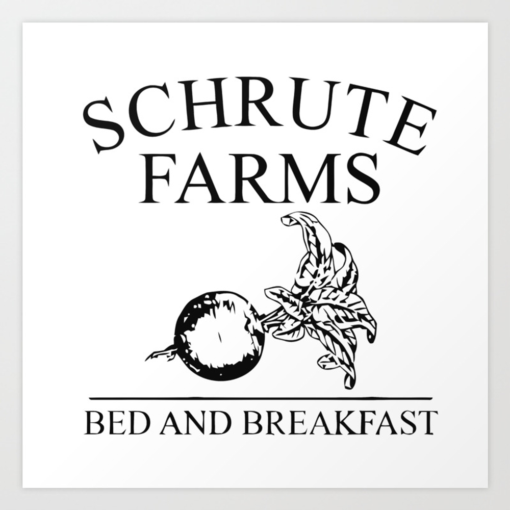 Schrute Farms Bed And Breakfast Art Print by Rud PRN8576955