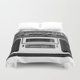 cassette recorder / audio player - 80s radio Duvet Cover