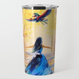 Twilight Princess And Zelda Flying Travel Mug