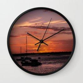 Sunset Burrum Heads- Fraser Coast, Australia Wall Clock