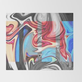 SNARL - BLACK Throw Blanket