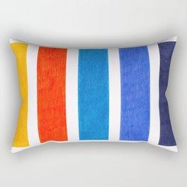 Blue & Orange Stripe Pattern Rectangular Pillow